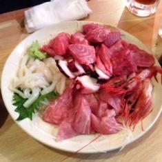 image5B55D 673cb thumbnail2 - 魚仁(東京都中央区)【大盛り】月島の居酒屋で大漁のお刺身をたらふく【大食い】