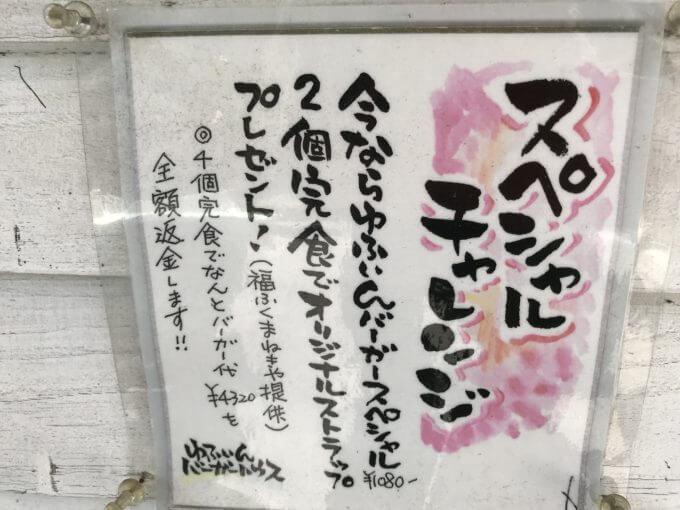 img 2323 - ゆふいんバーガーハウス(由布市)【チャレンジメニュー】絶品大繁盛ご当地バーガーで大食い出来る幸せ