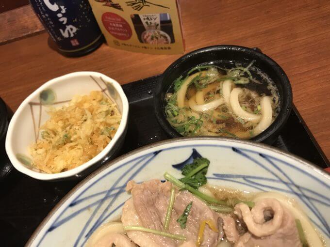 img 7394 - 丸亀製麺(各店)【半額】夜なきうどん鴨ねぎうどんが対象なので大盛り2コ食い【大食い】