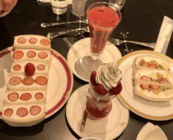 フルーツダイニングパレット宇都宮パセオのフルーツサンドといちごスイーツ