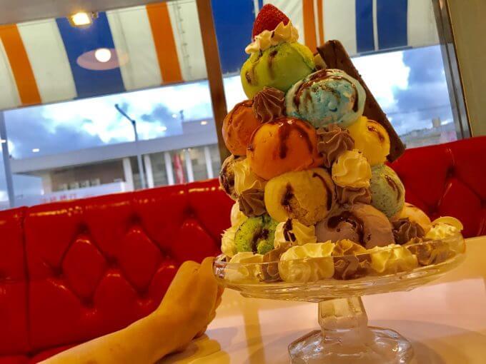 0BDA8204 6876 4585 B6AA A10CFCDD18EB - ブルーシール牧港本店(沖縄県浦添市)ビッグマウンテンと言う絶品アイスクリームの山に登頂【デカ盛り】