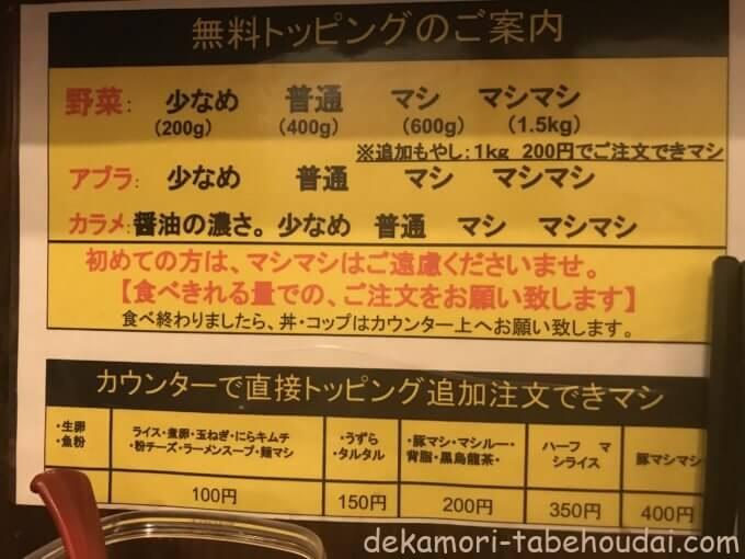 0645A2CB E89C 4E95 83BC 56DD842B84A3 - 立川マシマシ栄住吉店(名古屋市)【大食い】全てマシマシのデカ盛り✕4品並べたメニュー豊富な二郎系大繁盛チェーン